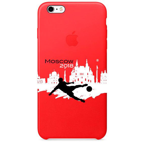 Чехол IPhone 6,7,8 ЧМ 2018 красный 2
