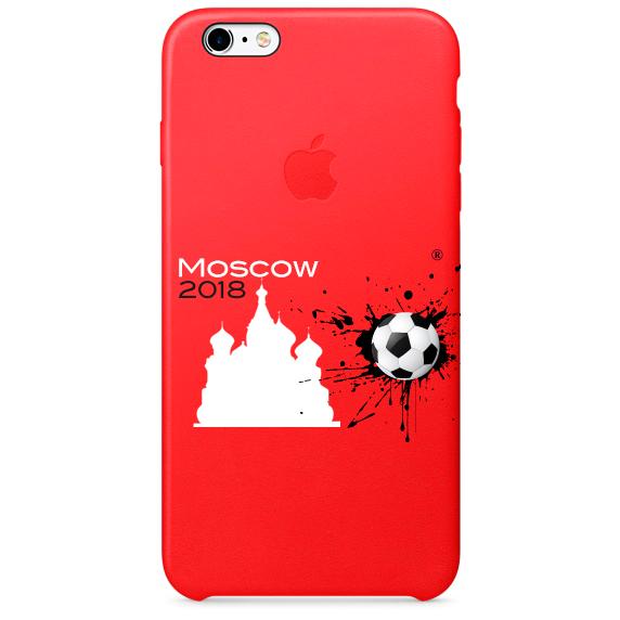 Чехол IPhone 6,7,8 ЧМ 2018 красный 3