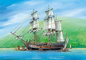 Сборная модель Экспедиционный корабль Баунти 1/87