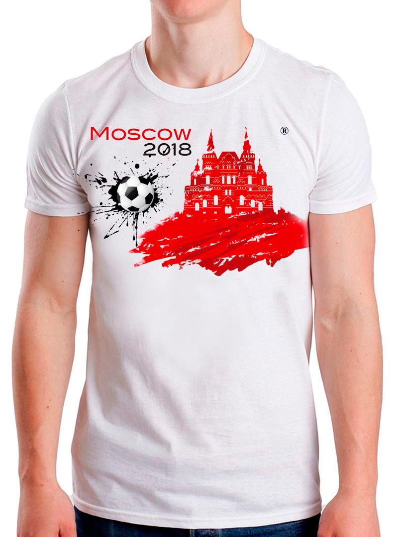 Футболка ЧМ 2018 4 белая 48