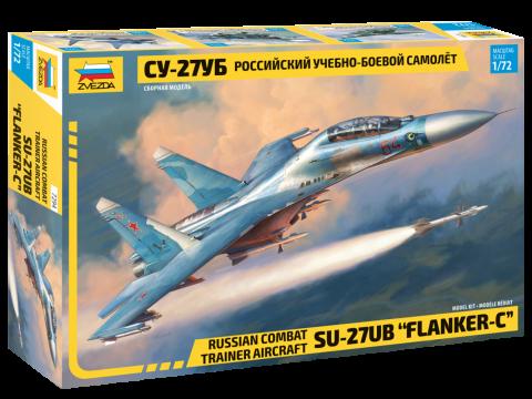 Российский учебно боевой самолет Су-27УБ