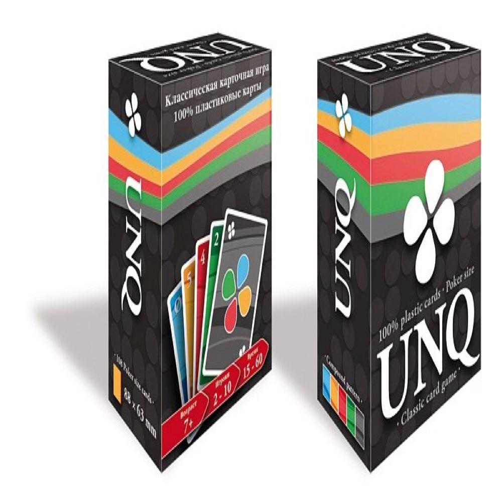 Настольная игра Карточная игра Unique (Uno с картами 100% пластик)