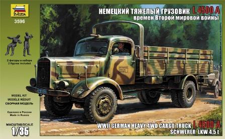 Сборная модель Немецкий тяжелый грузовик времен Второй Мировой Войны «L 450