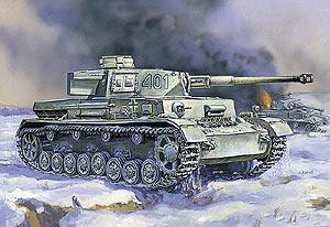 Сборная модель Немецкий средний танк Т - IV(G).