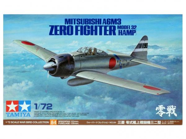 Модель Mitsubishi A6M3 Zero Fighter Японский палубный истребитель