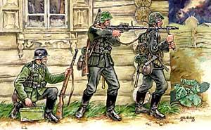 Сборная модель Немецкие пулеметчики