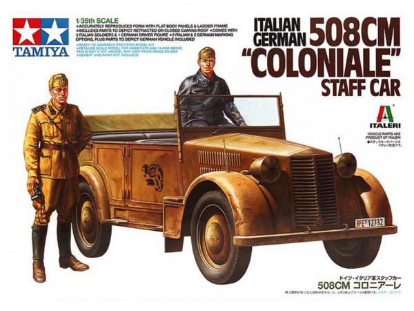 Модель 508CM Coloniale с фигурами водителя и офицера (1:35)