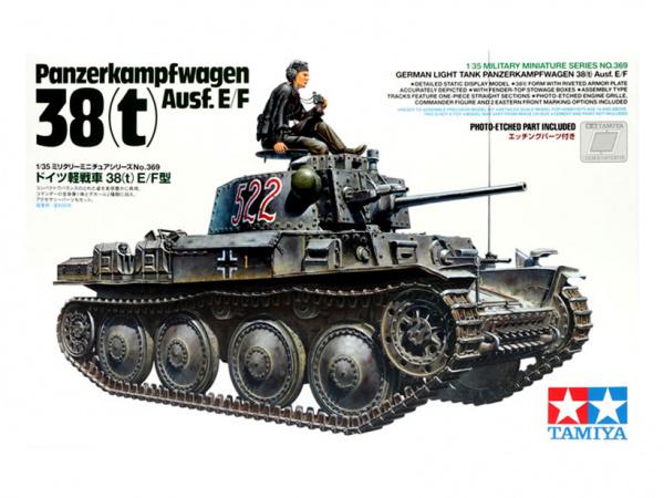 Модель Panzer 38(t) Ausf.E/F с фигурой танкиста (1:35)