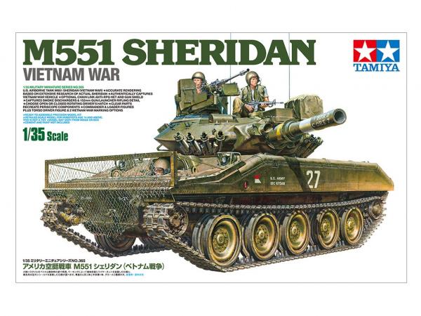 Модель М551 Sheridan Американский танк Вьетнамская война. С тремя ф