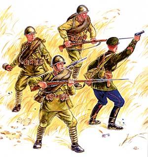 Сборная модель Пехота Красной Армии (№1)
