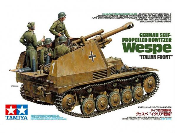 Модель Немецкая самоходная гаубица Wespe «Итальянский фронт» с 4-мя