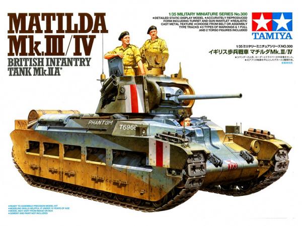 Модель Танк Matilda MK III/IV в Красноармейском варианте в комплект