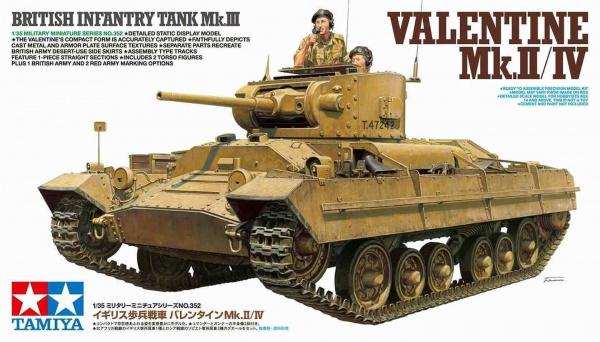 Модель Valentine Mk.II/IV (1:35) Английский легкий танк