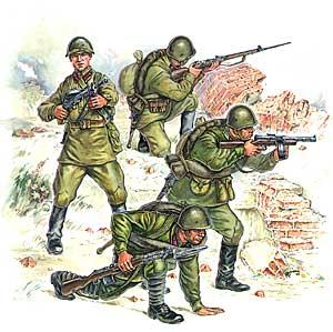 Сборная модель Пехота красной армии (№2)
