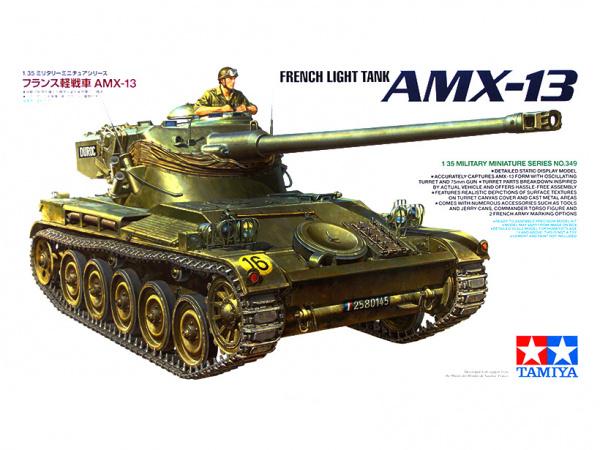 AMX-13 Французский легкий танк с фигурой командира (1:35)