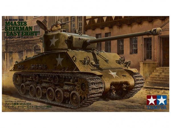Модель M4A3E8 Sherman Американский средний танк с фигурой командира