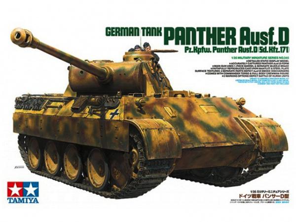Модель Panther Ausf.D Немецкий танк с 2-мя фигурами танкистов (1:35