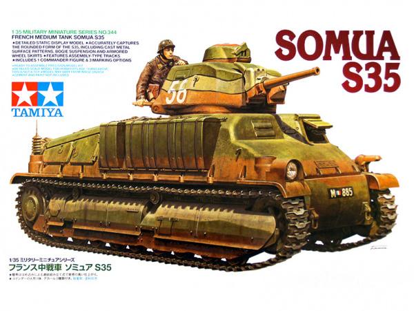 Модель SOMUA S35 Французский средний танк с одной фигурой (1:35)