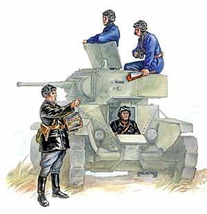 Сборная модель Танкисты Красной Армии