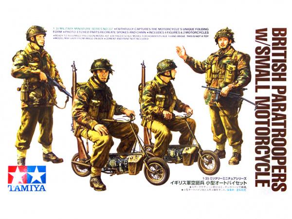 Модель Английские парашютисты с двумя складными мотоциклами. Четыре