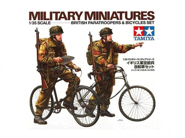 Модель Английский военный патруль на велосипедах ( две фигуры) (1:3