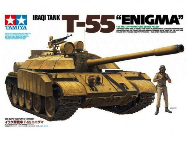 Модель Танк Т-55 Enigma (Иракская армия) с 1 фигурой танкиста (1:35