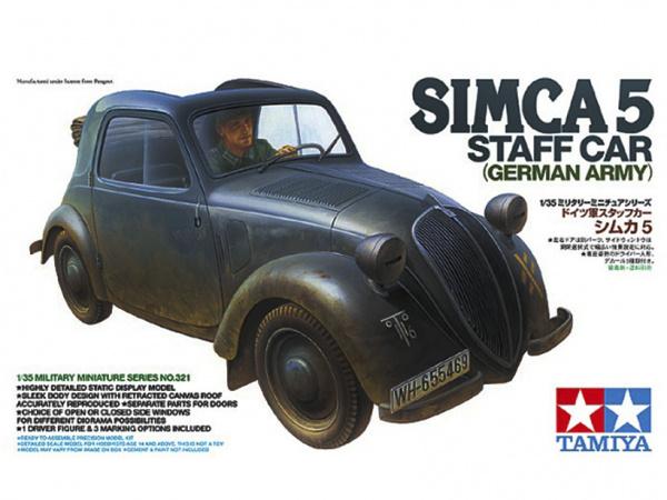 Модель Немецкий штабной автомобиль Simca 5 с фигурой водителя (1:35