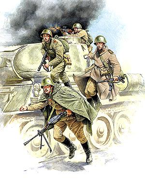 Сборная модель Советский танковый десант