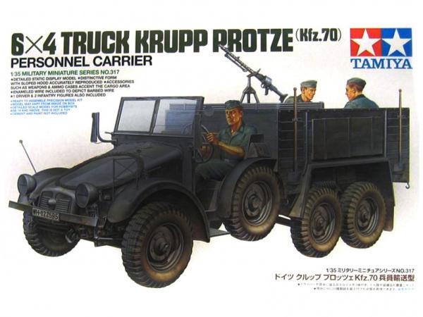 Модель Немецкий армейский грузовик Krupp Protze (Kfz.70) с 3-мя фиг