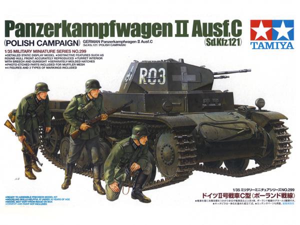 Немецкий лёгкий танк PzKw II Ausf C, польская кампания с тре