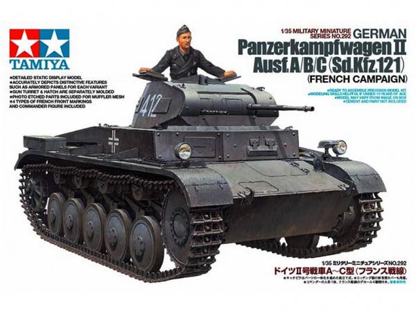 Модель Немецкий легкий танк Panzerkampfwagen II Ausf А/B/C с одной
