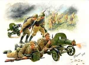 Сборная модель Советские пулеметчики
