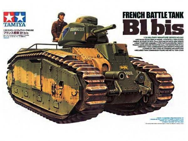 Модель Французский тяжелый танк B1 bis с 75 мм. пушкой (1:35)