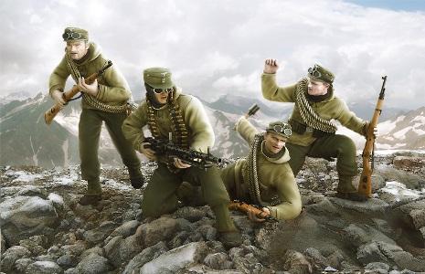 Сборная модель Немецкие горные стрелки «Эдельвейс»