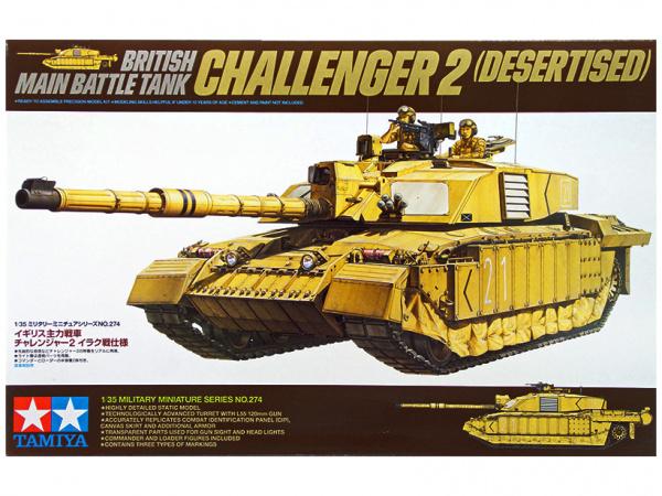 Английский основной танк Challenger II с 2-мя фигурами (1:35