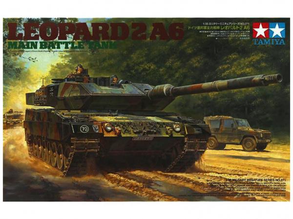 Модель Немецкий основной танк Леопард, 2001г., с тремя фигурами тан
