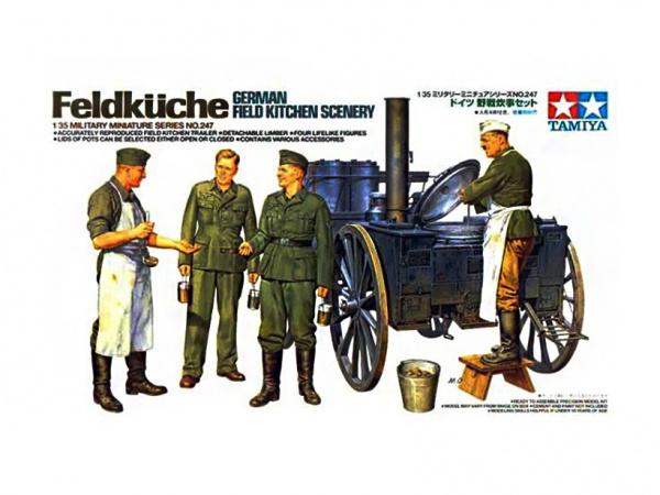 Модель Немецкая полевая кухня с двумя поварами и двумя солдатами (1