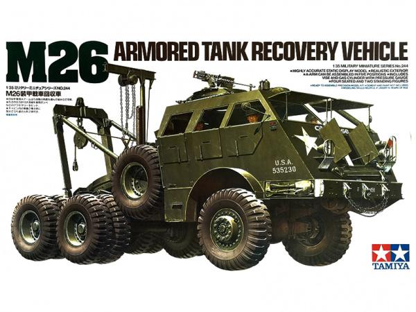 Модель Американский тягач М26 для буксировки танков с шестью фигура
