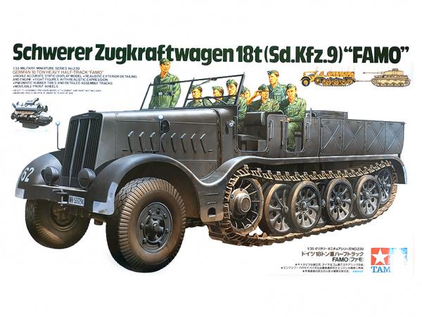 Модель Немецкий18-тонный тяжелый полугусеничный тягач FAMO с 8 фигу