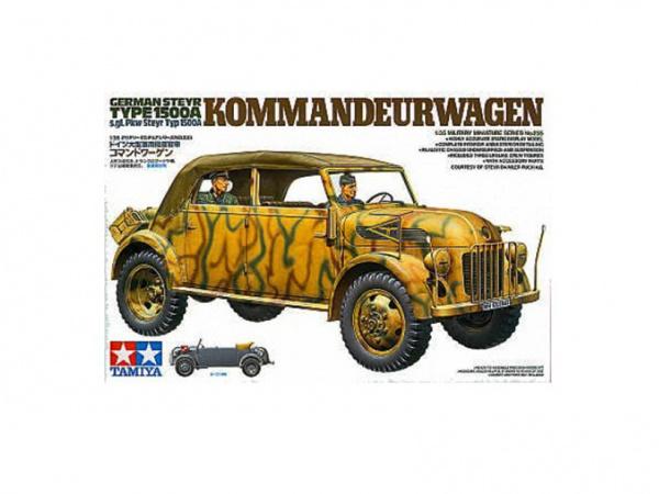 Модель Штабная машина Steyr Type 1500A Kommanderwagen с 3-мя фигура
