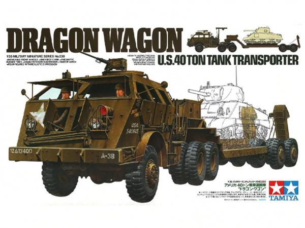 Модель Американский танковый тягач Dragon Wagon с прицепом и 4-мя ф