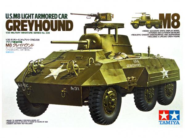 Модель Американский лёгкий бронеавтомобиль М8 Greyhound (1:35)