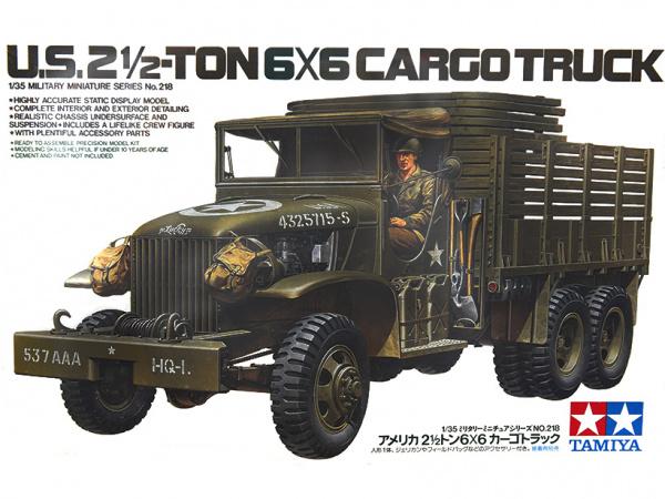 Модель Американский 2,5-тонный трехосный грузовик 6x6 (2 варианта с