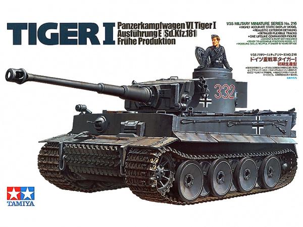 Модель Немецкий танк Tiger I Тигр (ранняя версия) с 1 фигурой (1:35