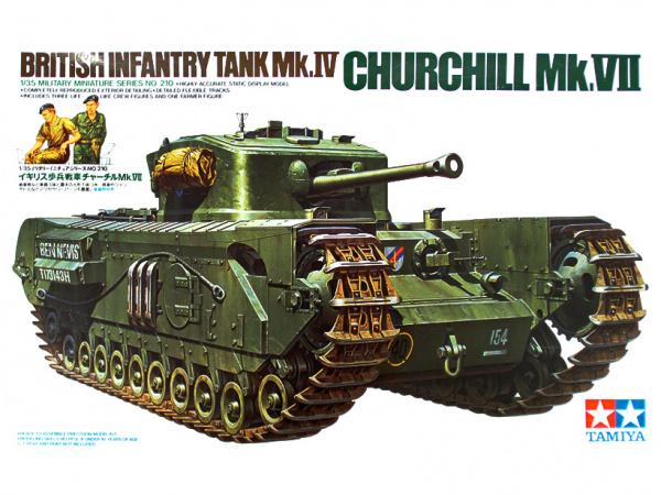 Модель Английский тяжелый танк Mk.IV Churchill Mk.VII Черчиль Mk.VI