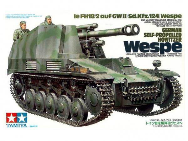 Модель 105-мм гаубица на шасси Pz-II Sd.Kfz.124 Wespe 1943г. с 2 фи