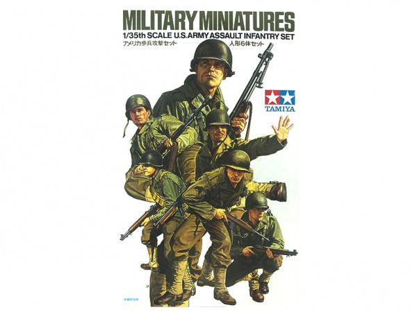 Модель Американские пехотинцы, 6 фигур (1:35)