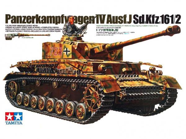Модель Немецкий танк Panzerkampfwagen IV Ausf.J с фигурой танкиста