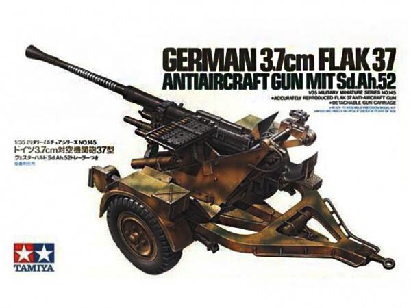 Модель Немецкая 37 мм. зенитная пушка Flak 37 (1:35)