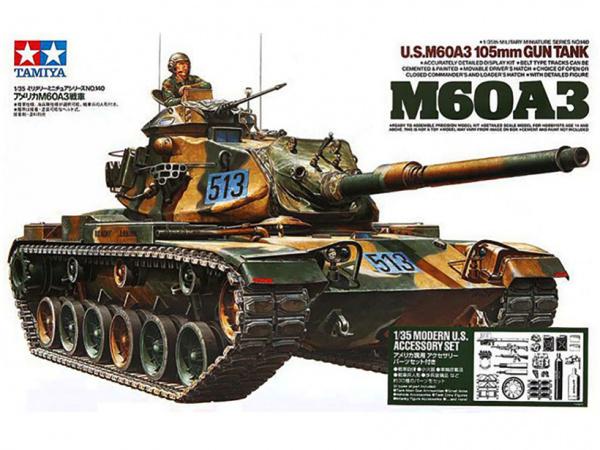 Модель Американский танк М60А3 с 105-мм пушкой и 1 фигурой танкиста